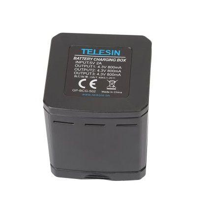 Bateria Original Gopro hero 5  6 7 AABAT-001 + Carregador Telesin Triplo