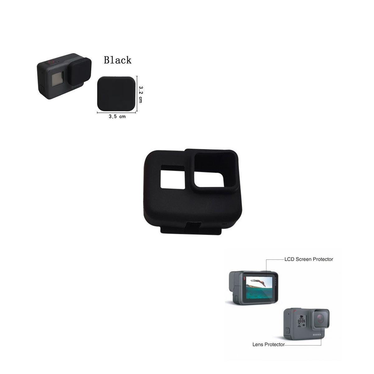 Kit proteção Gopro Hero 5 6 7 Black