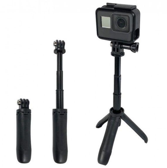 Mini Bastão de Mão Tripé para Câmeras GoPro e Câmeras Compactas