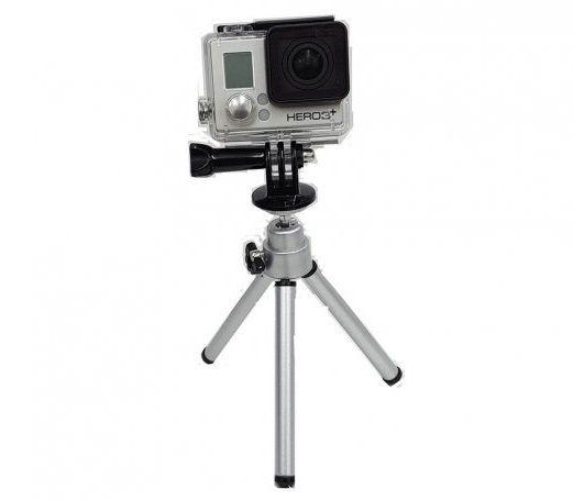 Mini Tripé com Encaixe Padrão 1/4'' para Câmeras de Ação ou Esportivas