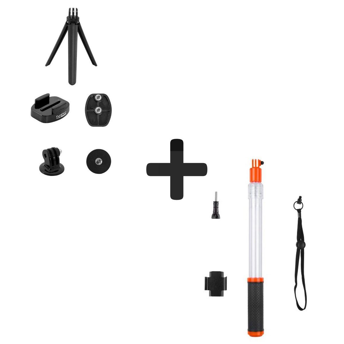 Mini tripé Gopro + Adaptadores para tripé + Bastão Flutuante Telesin