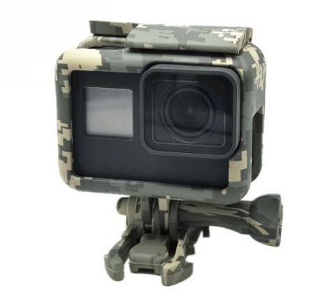 Suporte Armação Moldura Suporte Camuflado  Cinza The Frame Para Câmera GoPro Hero 5 Black Hero 6 Black