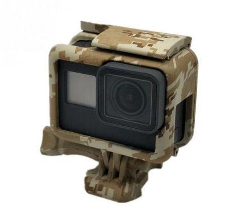 Suporte Armação Moldura Suporte Camuflado MARROM Escuro  The Frame Para Câmera GoPro Hero 5 Black Hero 6 Black Hero 7 Black