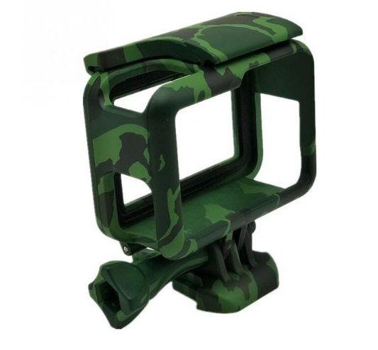 Suporte Armação Moldura Suporte Camuflado Verde Escuro  The Frame Para Câmera GoPro Hero 5 Black Hero 6 Black Hero 7 Black