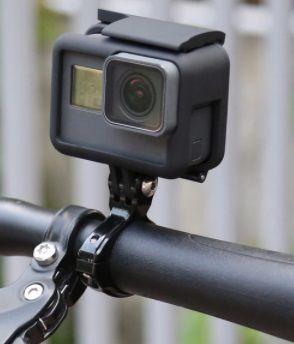 Suporte para Bike Bicicleta em Alumínio para Câmeras GoPro Hero SJCam - Pequeno