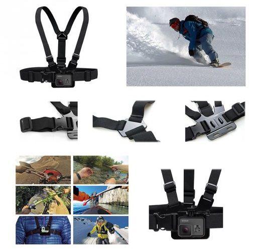 Suporte Peitoral para Câmeras GoPro Hero Sjcam e compatíveis