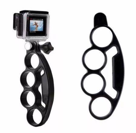 Suporte Soco Inglês Knuckles Grip Mount Para Câmeras de Ação ou Esportivas