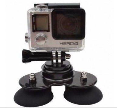Suporte Ventosa Tripla para Câmeras GoPro sJcam e câmeras compatíves