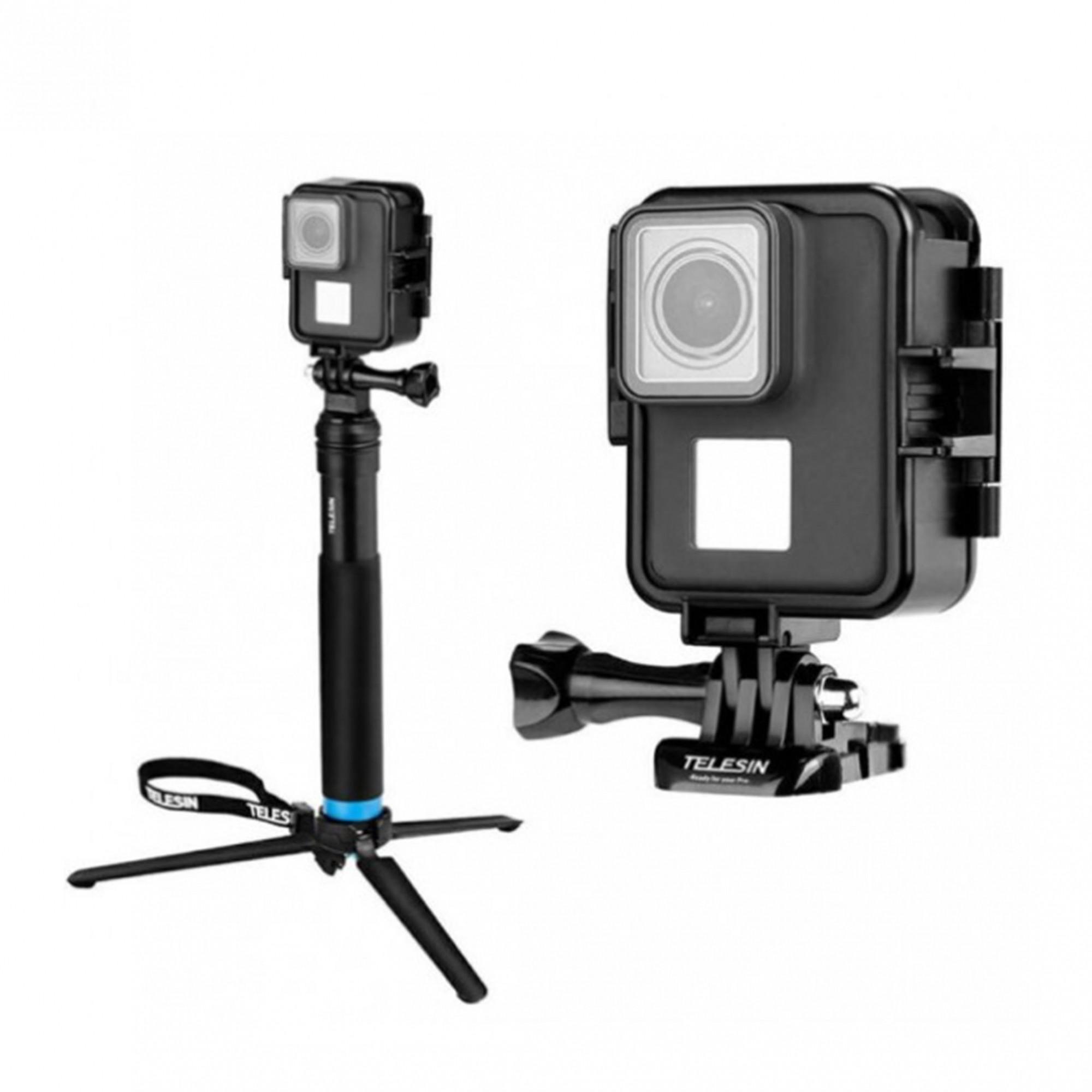 Suporte Vertical GoPro Hero 5 6 7 Black / White / Silver e Hero 2018 Telesin