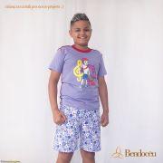 Pijama Davi - Modelo jovem - roxo verão