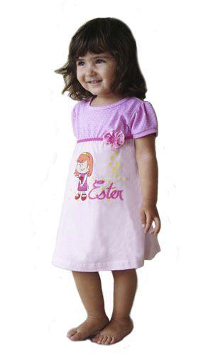Camisola Ester - Modelo Pink  - Bençãos do Céu