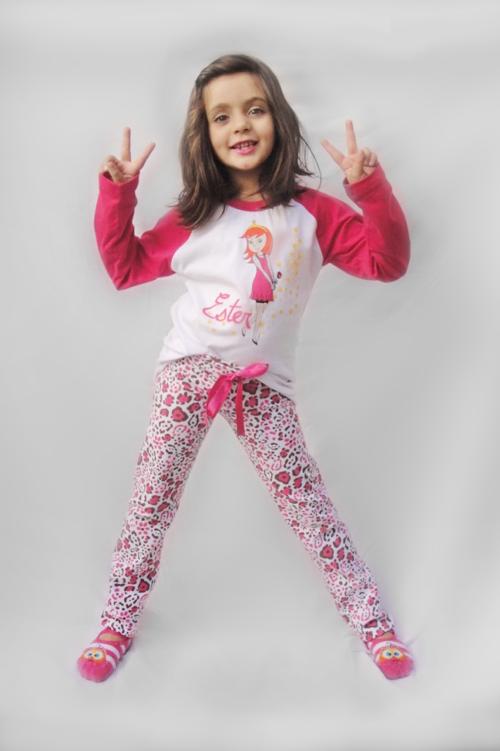 Pijama Ester - Modelo jovem - inverno