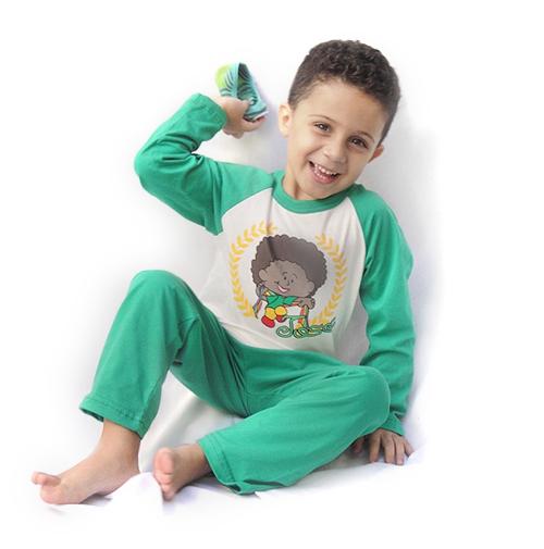 Pijama José - Modelo bebê - inverno  - Bençãos do Céu