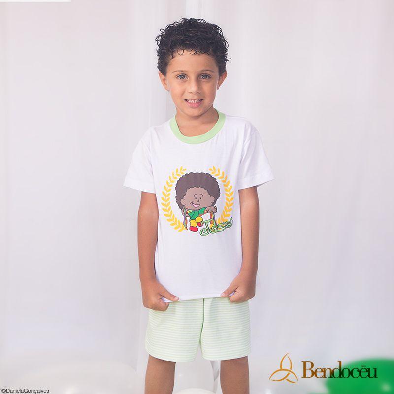 Pijama José - Modelo Verde - verão