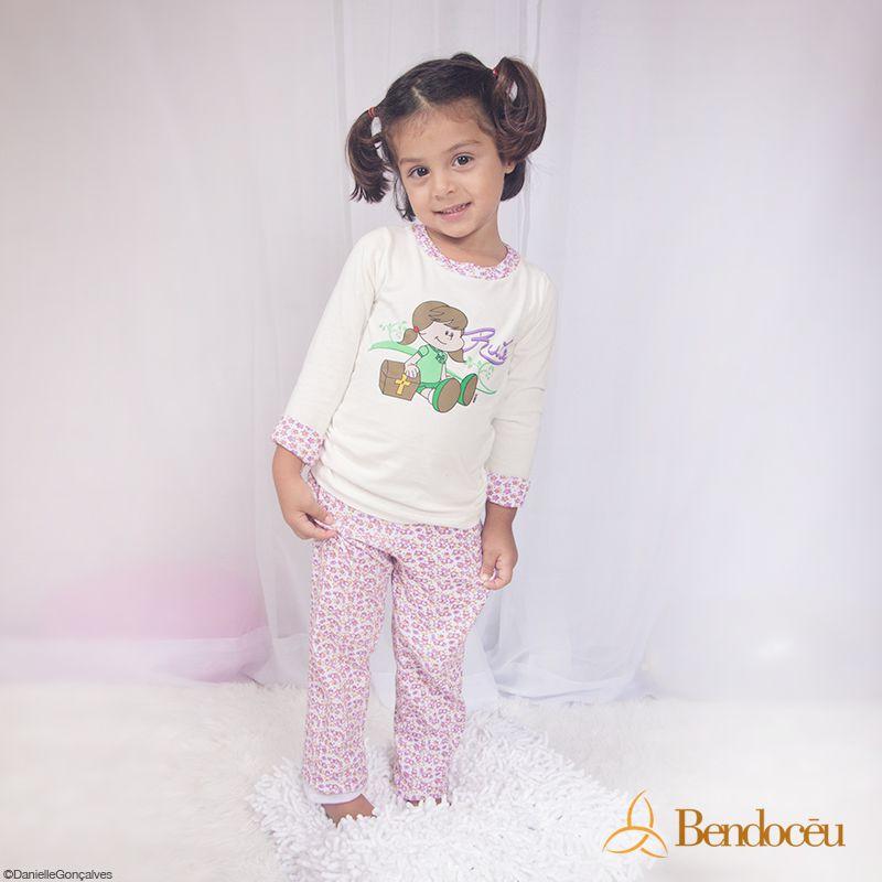 Pijama Rute - Modelo bebê - inverno  - Bençãos do Céu