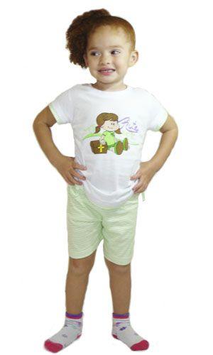Pijama Rute - Modelo verde - verão
