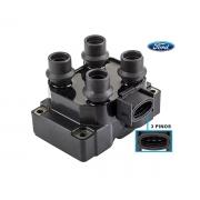 Bobina Ignição Ford Courier Fiesta Ka 1.3 1.4 16V Escort Mondeo