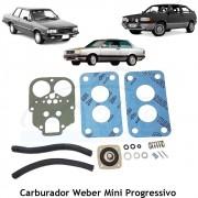 Jogo Juntas Carburador Weber Mini Progressivo Gol Voyage Saveiro Parati 1986 em diante Corcel Belina Del Rey 1.6 - Álco
