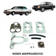 Jogo Juntas Carburador Weber Mini Progressivo Gol Voyage Saveiro Parati 1.6 1980 até 1985 Chevette Marajó 1.4 1.6  Corce