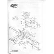 Kit Embuchamento e Borboleta Carburador Weber 460 Gol Voyage Parati 1.0 1.6 1º Estágio