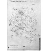 Kit Embuchamento e Eixo Carburador Solex 2E VW Ford GM 1º Estágio