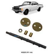Kit Embuchamento e Eixo Carburador Weber DFV 446 Opala 4cc 6cc