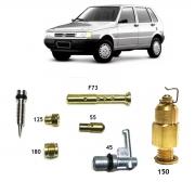 Kit Gicle Carburador Agulha Boia Weber 190 Elba Prêmio Uno CS 1.5 Gasolina 1990 até 1992