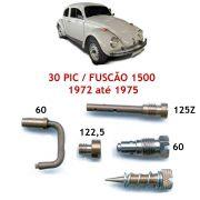 Kit Gicle Carburador Solex 30 PIC Fusca 1500 1972 até 1975 Gasolina