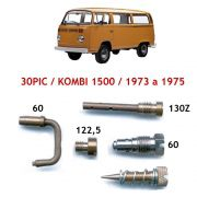 Kit Gicle Carburador Solex 30 PIC Kombi 1500 1973 até 1975 Gasolina