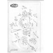 Kit Gicle Carburador Weber 190 Uno Elba Prêmio 1.3 Gasolina 1989 em diante