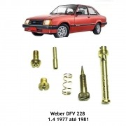 Kit Gicle Carburador Weber 228 Chevette 1.4 Gasolina 1977 - 1981