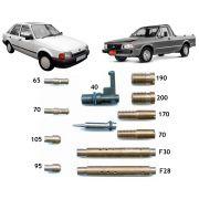 Kit Gicle Carburador Weber 460 Escort Pampa Corcel Belina Del Rey 1.6 Gasolina a partir 1986