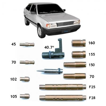 Kit Gicle Carburador Weber 460 Gol Parati CHT 1.6  1989-1991 Gasolina