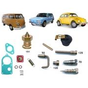 Reparo Carburador Solex 30 PIC Fusca Kombi Brasilia 1600