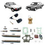 Reparo Carburador Solex BLFA 30/34 Escort Corcel Belina Del Rey 1983 até 1991 Álcool