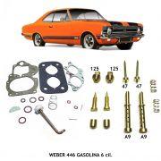 Reparo Jogo Juntas e Kit Gicleur Carburador Weber 446 DFV Opala Caravan 6c Gasolina