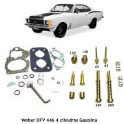 Reparo Jogo Juntas Kit Gicles Carburador Weber 446 DFV Opala Caravan 4c Gasolina