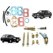 Reparo Juntas Kit Gicle Carburador Weber TLDZ Gol Voyage Parati 1.6 Gasolina