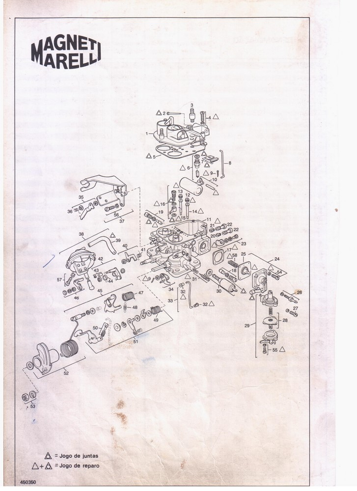 Base Baquelite Carburador Weber 450 Miniprogressivo Parati Gol Saveiro