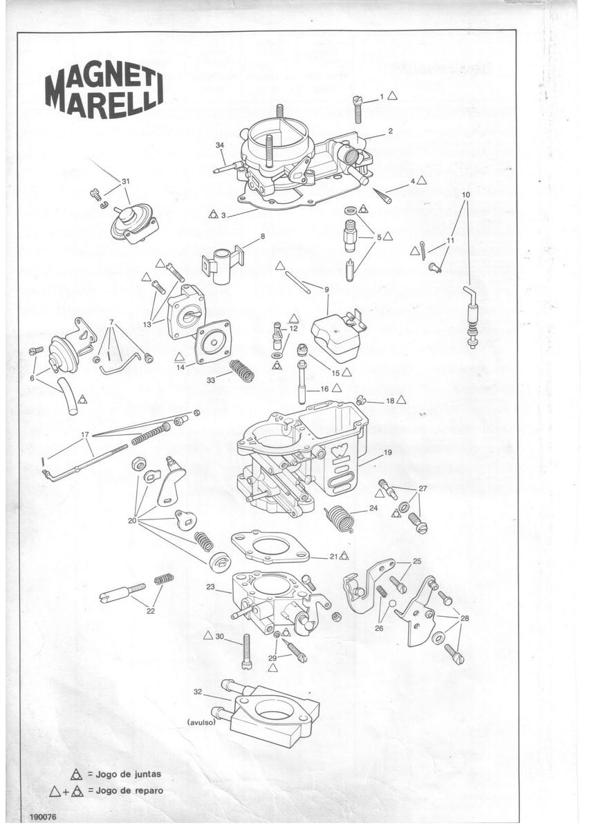 Came Acelerador Carburador Weber 190  Fiat Uno Premio Elba Fiorino