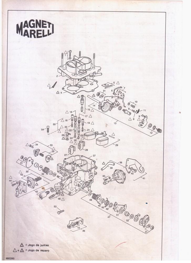 Cápsula Segundo Estágio Carburador Weber 460 Gol Voyage Parati 1.6 CHT 1989 em diante