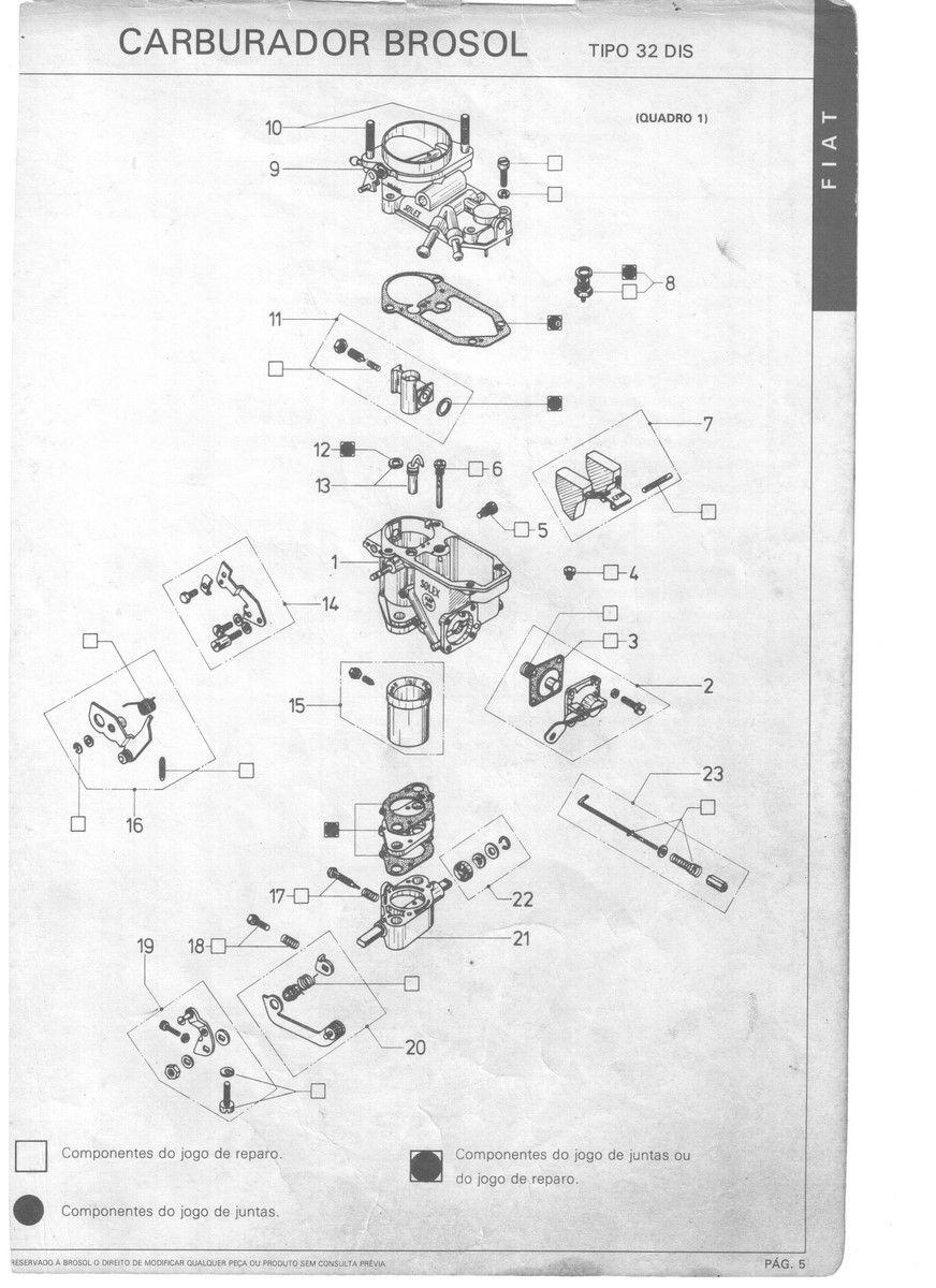 Haste Aceleração Carburador Solex 32dis Fiat 147 1050