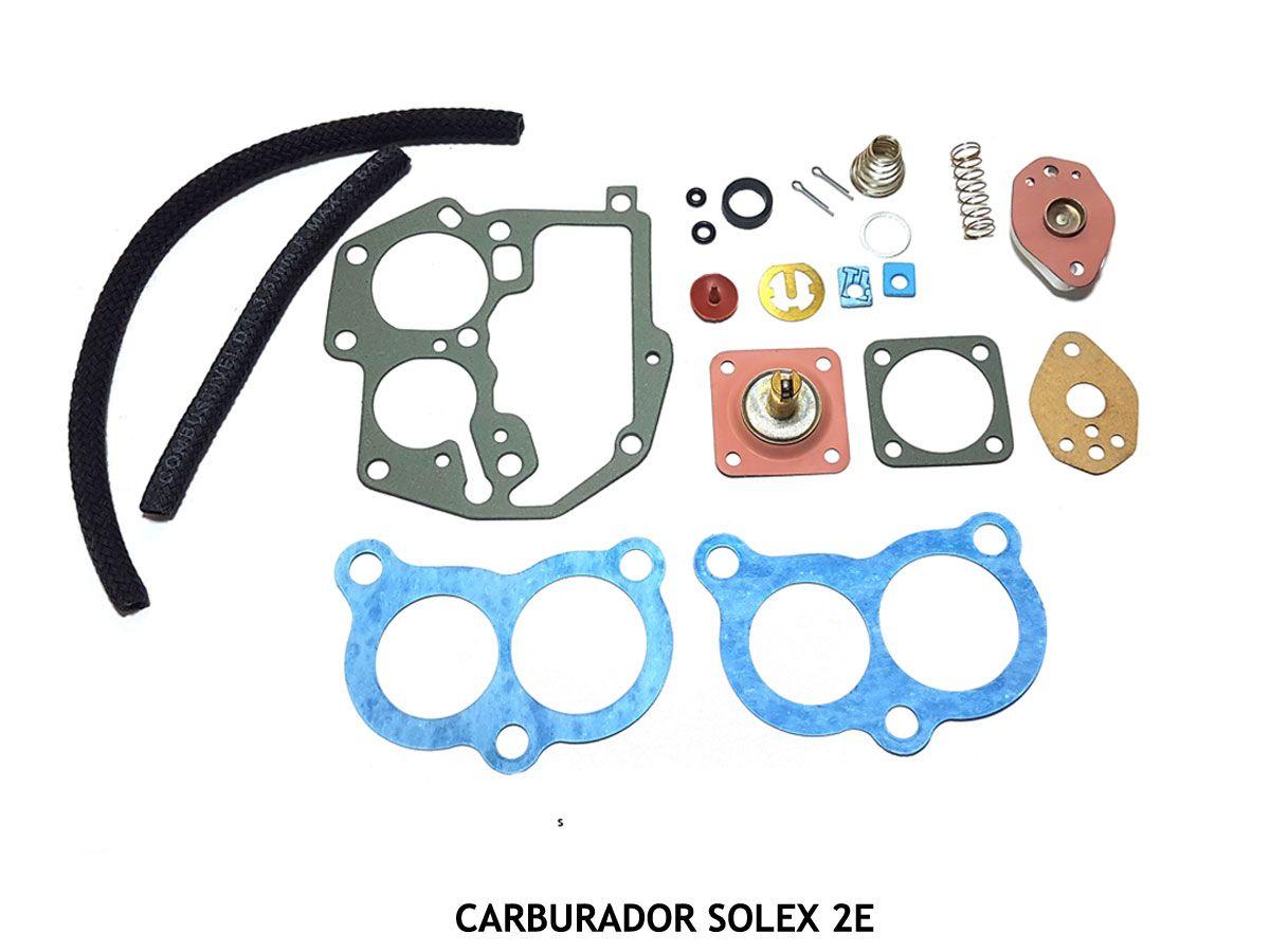 Jogo Juntas Carburador Solex 2E Santana Gol Monza Kadett Escort Pampa 1.8 2.0 Álcool e Gasolina