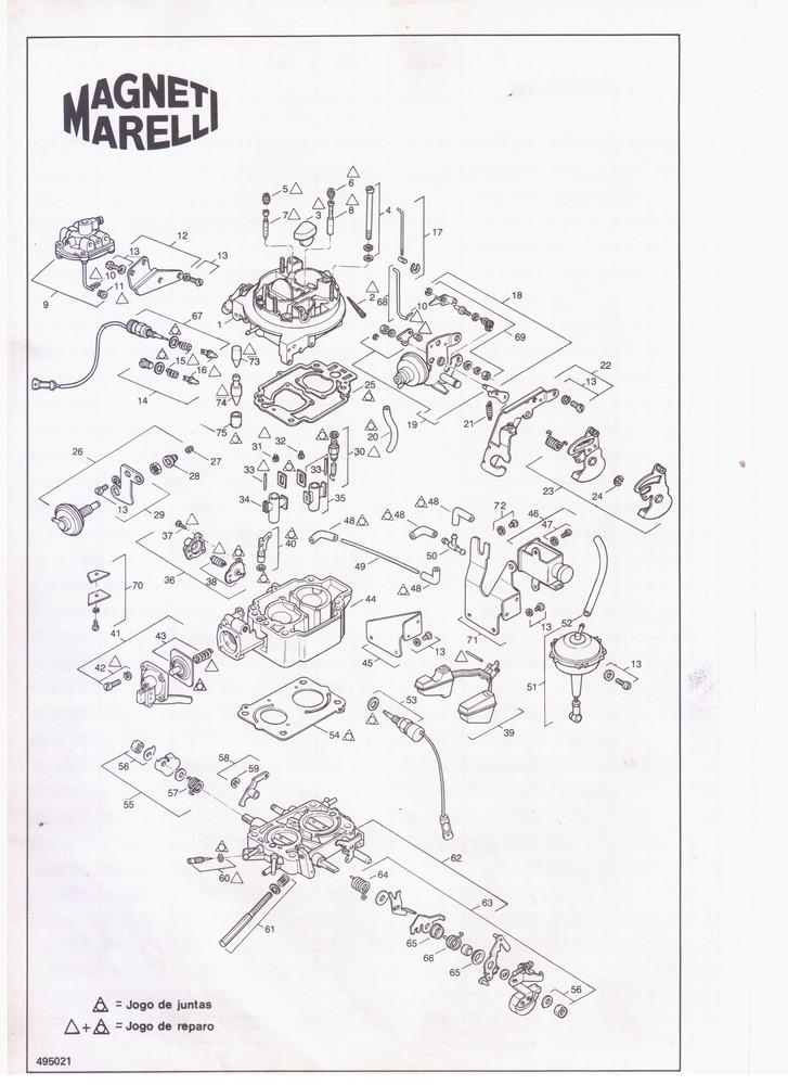 Jogo Juntas Carburador Weber TLDZ Gol Voyage Parati Escort Del Rey Corcel 1.6 1.8