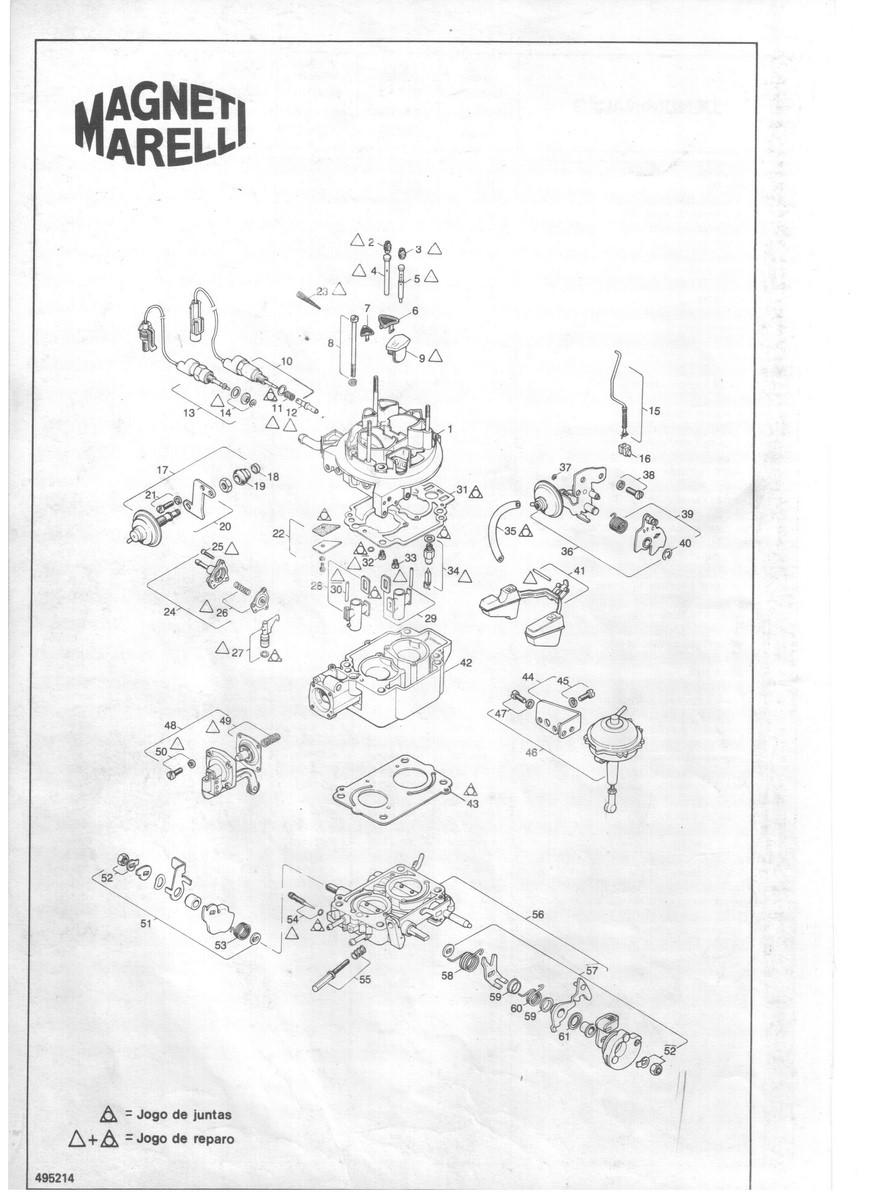 Jogo Juntas Carburador Weber TLDZ TLDE TLDF Uno Mille Fiorino Elba 1.6