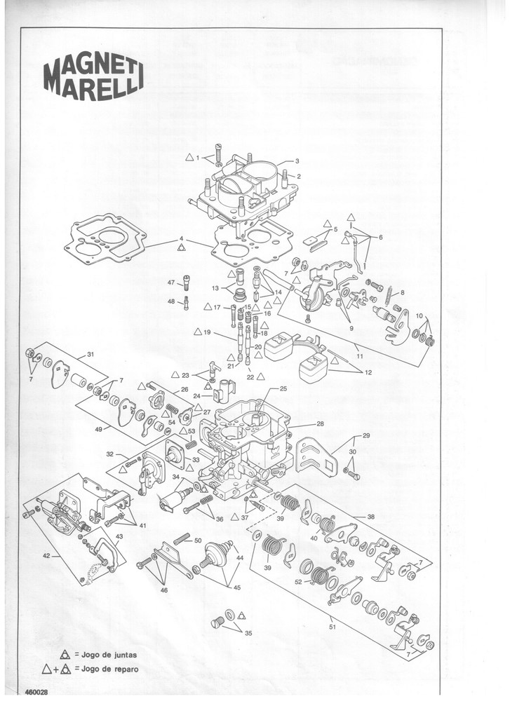 Kit Embuchamento Carburador Weber 460 Escort Belina Del Rey CHT 1.6 1º Corpo