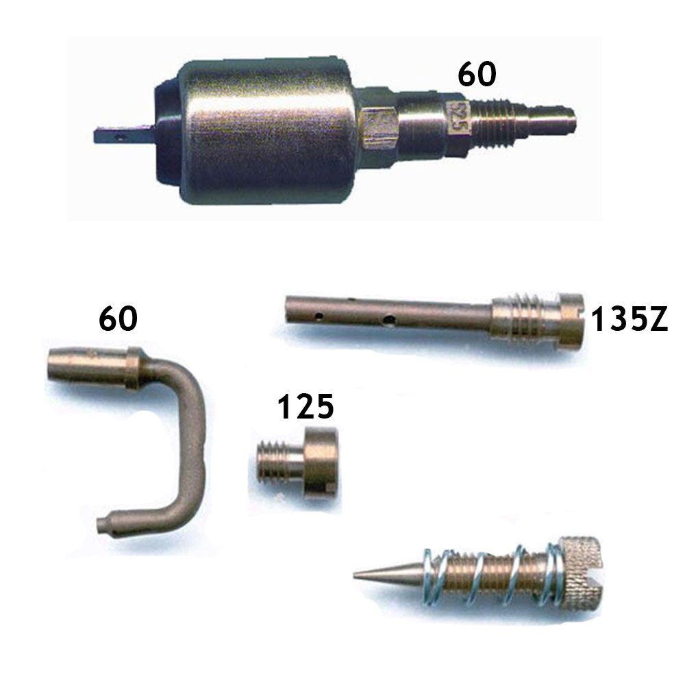 Kit Gicle + Agulha Magnética da Marcha Lenta Carburador Solex 30 PIC Fusca Brasilia Kombi