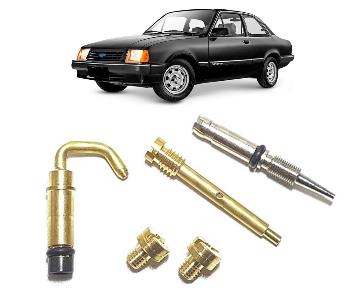 Kit Gicle Carburador Solex 2E Chevette 1.6 1992 em diante Gasolina