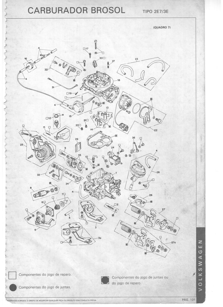 Kit Gicle Carburador Solex 3E Opala Caravan 6c Gasolina