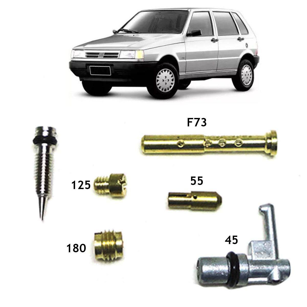 Kit Gicle Carburador Weber 190 Elba Prêmio Uno CS 1.5 Gasolina 1990 até 1992